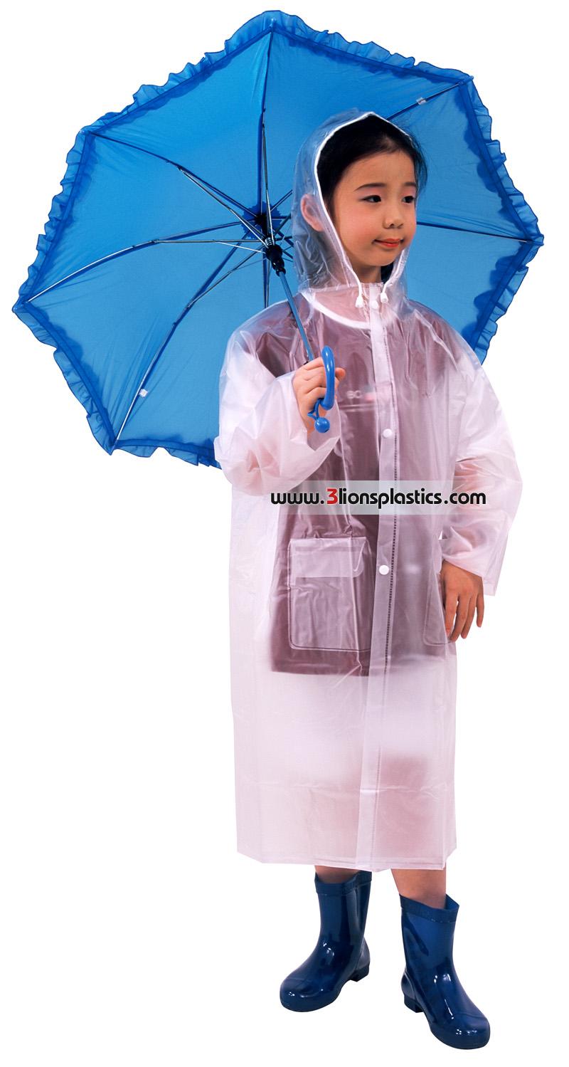 30-RG021/4 เสื้อกันฝนเด็ก แบบผ่าหน้า - โรงงานผลิตเสื้อกันฝน