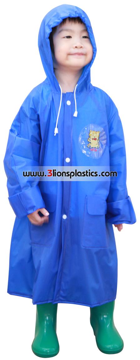 30-RC005 เสื้อกันฝนเด็ก แบบผ่าหน้า - โรงงานผลิตเสื้อกันฝน
