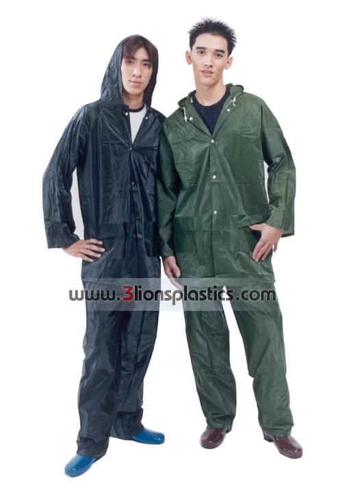 30-RG005 เสื้อกันฝนผู้ใหญ่ แบบเสื้อ+กางเกง - โรงงานผลิตเสื้อกันฝน